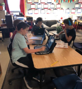 students coding, learning computer science