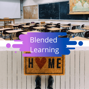 learning at home, learning at school, blended model, hybrid learning